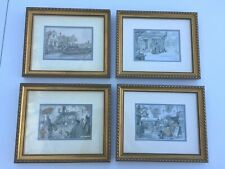 "Lot 4 Anton Pieck Art Prints ~ Framed ~ 10.25x12.25"" w/Acrylic Glass Mint Cond"