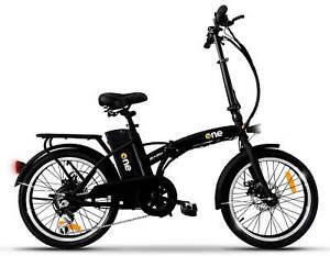 """Bicicletta Elettrica Pieghevole a Pedalata Assistita 20"""" 250W The One Easy Nera"""