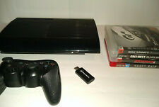 REFURBISHED Sony Playstation 3 PS3 500gb Super Slim with Controller 4 Games