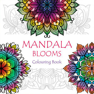 Adult Colouring Books - Mandala Blooms - Patterns Flowers Mindful Colour Therapy