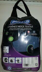 Chaussette chaine neige textile pneu Point S numéro 13 neuve