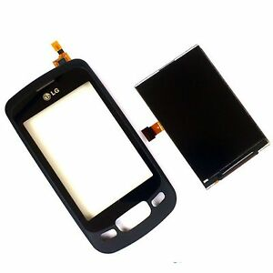 100% Genuine LG P500 Optimus One LCD display+digitizer touch screen lens+front 1