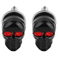 1 Pair Motorcycle Skull Number Plate Framerews Fittingrew Black X7E9 I6Q3