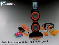 NEW & Sealed iCoustic (20 in 1) Accessory Kit iPod Touch 4TH GEN Boxed ~ Aust.