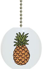 Pineapple Fruit Solid CERAMIC Ceiling Fan Light Lamp Pull