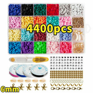 1Set Flat Polymer Clay Beads Spacer for DIY Bracelets Jewelry&Making Finding &