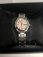 Seiko 851317 Unisex Silver Stainless Steel Analog Dial Quartz Genuine Watch ZK23