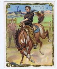 Hassan Cigarettes Cowboy Series T53 Western A Bucking Bronco high grade 319