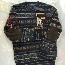 Polo Ralph Lauren Alpaca Wool Varsity Letterman Rugby Sweater Small NWT $368