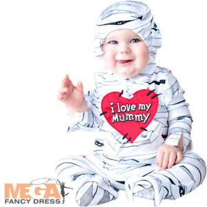 I Love My Mummy Baby 0-24 Months Fancy Dress Halloween Toddlers Infant Costume