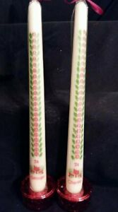 Personalised Advent /Count down to santa taper candles