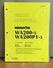 Heavy equipment manuals books for komatsu wheel loader ebay komatsu wa200 5h wa200pt 5h wheel loader shop service repair manual fandeluxe Images