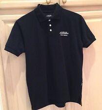 Authentic AUTOMOBILI LAMBORGHINI Scottsdale 100% Cotton Blk S/S Polo Shirt
