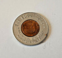 Encased Cent Good Luck Penny Token The Educators Lancaster PA 1946 Mutual A & H