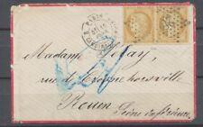 1871 Env. Paire N°36 Obl étoile 28 càd PARIS Cote 250€ TB H2048