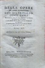 1787 – CARLI, OPERE – ESIODO TEOGONIA GRECIA LETTERATURA DIVINITÀ MITOLOGIA MITI