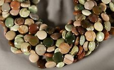 """GORGEOUS NATURAL IMPERIAL JASPER 15MM COIN BEADS 15.5"""" STR"""