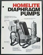 Homelite Diaphragm Pumps Dealer Sales Brochure