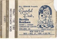 GRATEFUL DEAD TICKET STUB  NEW YEARS 12-31-1986 **MAIL ORDER**