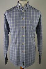 Men's Ben Sherman blue check long sleeved shirt medium large vintage mod