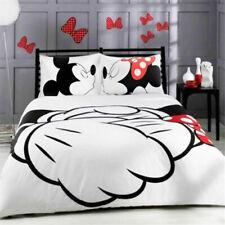 Disney Mickey Mouse Print Bedding Set Duvet Cover Pillow Cases Quilt Cover 3pcs