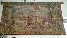 """TAPESTRY THE HUNTS OF MAXIMILLIAN MEDIEVAL BRUSSELS 100% Wool  H52'' x W  93"""""""