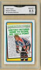 1990 Topps Wayne Gretzky Returns Home #2 Edmonton Oilers GMA 8.5