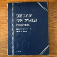 28 Great Britain Pennies 1902 to 1929 in a Whitman Collection No. 3 Album