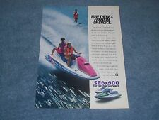 """1992 Sea-Doo Watercraft Vintage Ad """"Now There's Freedom of Choice."""" XP GTX"""