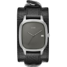 Storm London Benzo Square Titanium Men's Watch 47348 / TN Analogue Leather Black