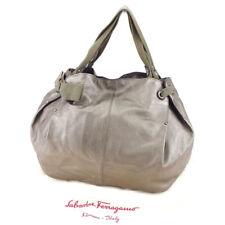 9520ae8e7427 Salvatore Ferragamo Tote bag Vera Silver Woman unisex Authentic Used T4971