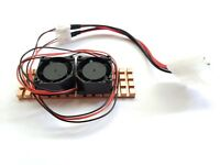 M.2 NGFF NVME SSD 4MM Copper Heatsink Thermal Pad Dual Active Cooling Fan DIY