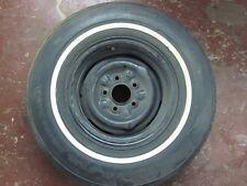 """NOS White Stripe Uniroyal Zeta Tire W/Rim HR 78 14"""" DOT 415- 74 75 76 77 wheel"""