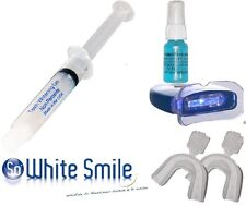 TEETH WHITENING KIT-LIGHT NON-PEROXIDE GEL+20CC STAIN REMOVAL SPRAY-MADE IN USA-