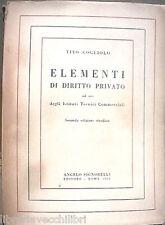 ELEMENTI DI DIRITTO PRIVATO Tito Cogliolo Signorelli 1954 Manuale Giuridica di e