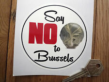 SAY NO TO BRUSSELS Humorous Anti EU Car STICKER European Union Sprouts Bumper