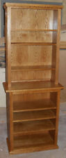New oak media shelves, bookcase or displaycase