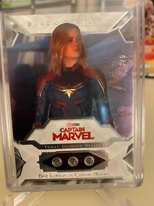Marvel black diamond triple diamond relic Brie Larson captain marvel 3/5