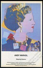 1985 Andy Warhol Queen Margrethe II of Denmark Castelli BIG vintage print ad