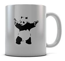 Banksy Panda Guns Mug Cup Present Gift Coffee Birthday
