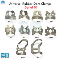 Dental Rubber Dam Clamps Molars Tooth Isolation Dentist Endodontic Instrument CE