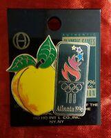 Huge Peach Beside Atlanta Olympic  Logo 1996 Pin New