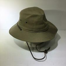 The Village Hat Shop Moss Green Bucket Hat with Leather Band