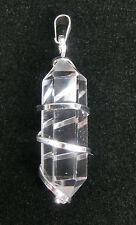 Bergkristall Doppelender Anhänger Spitze Edelstein mit Spirale