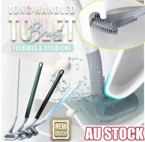 Golf Toilet Brush Long-Handled Toilet Brush Wall-Mounted Silicone Toilet Brush~