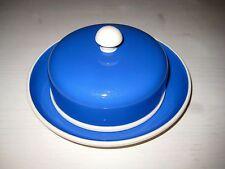 Käse Butter Dose Art Deco Villeroy & Boch Dresden dunkelblau  Bauhaus