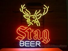 """New Stag Beer Deer Bar Party Light Lamp Decor Neon Sign 17"""""""