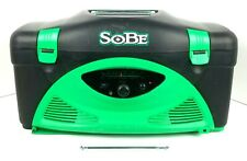 Sobe Energy Drink Collectable Cooler Radio Green & Black Tested Works.