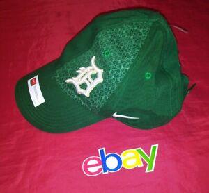 NIKE Detroit Tigers MLB St. Patrick's Day STRAPBACK Clean Up Hat Cap Men's NEW!