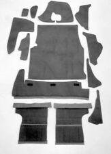 Kompl. Kofferraum Teppichsatz für Fiat Dino 2000 Coupe 66-72 Schwarz Velour